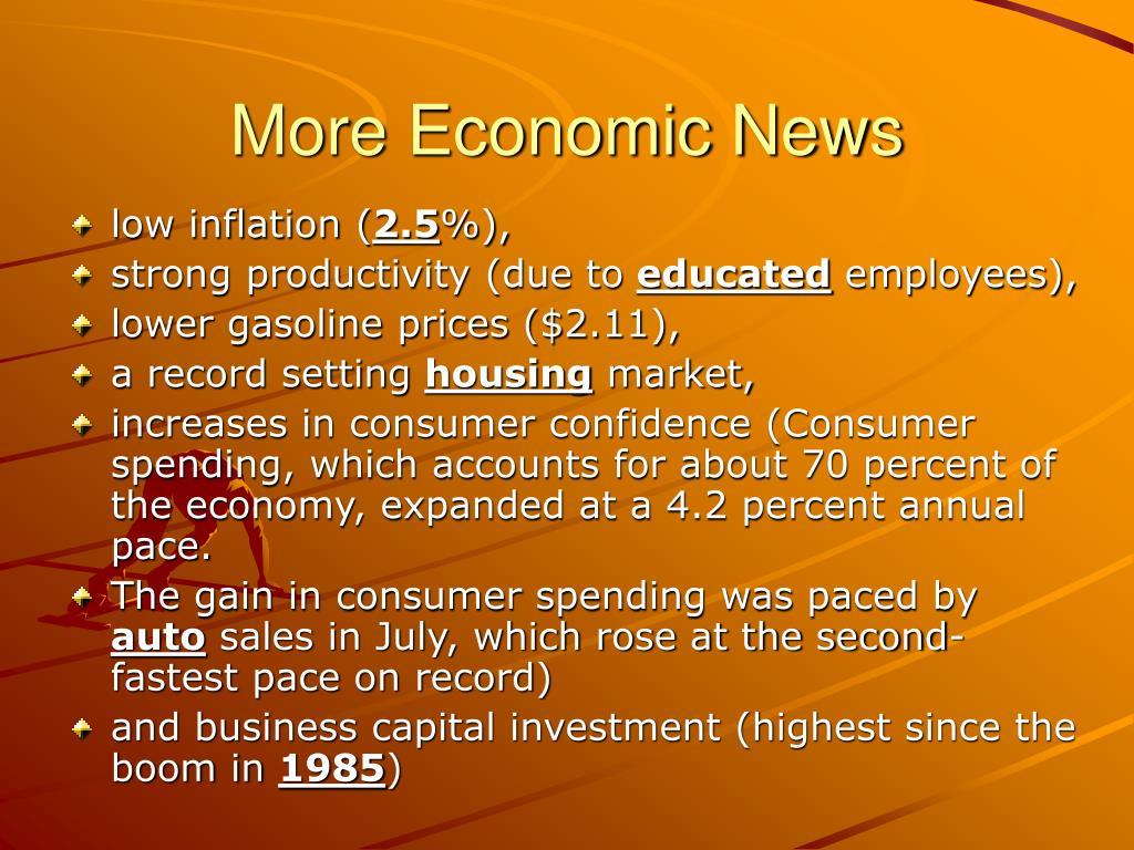 More Economic News