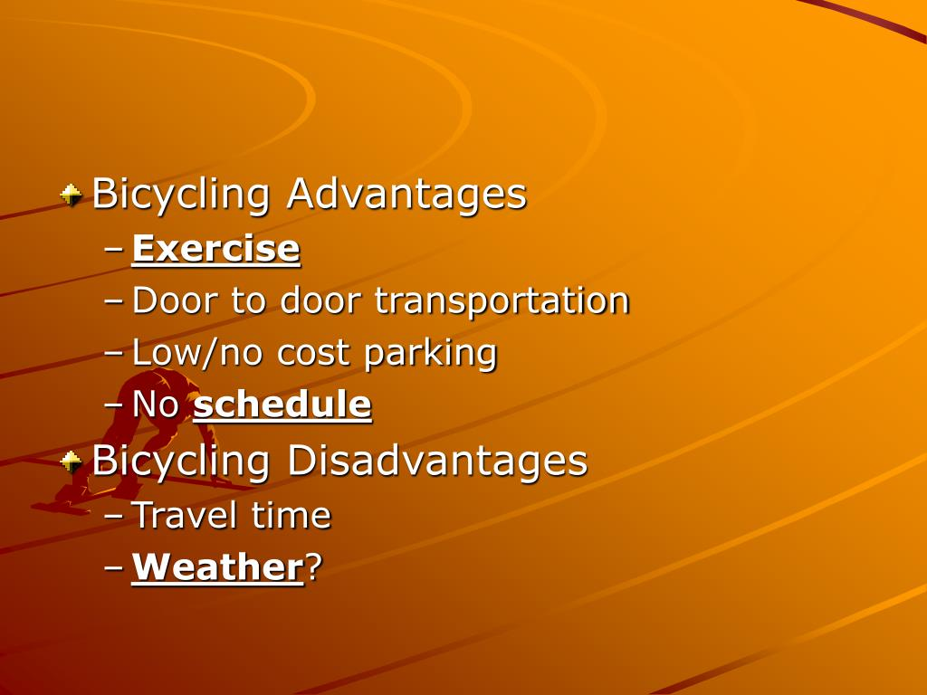 Bicycling Advantages