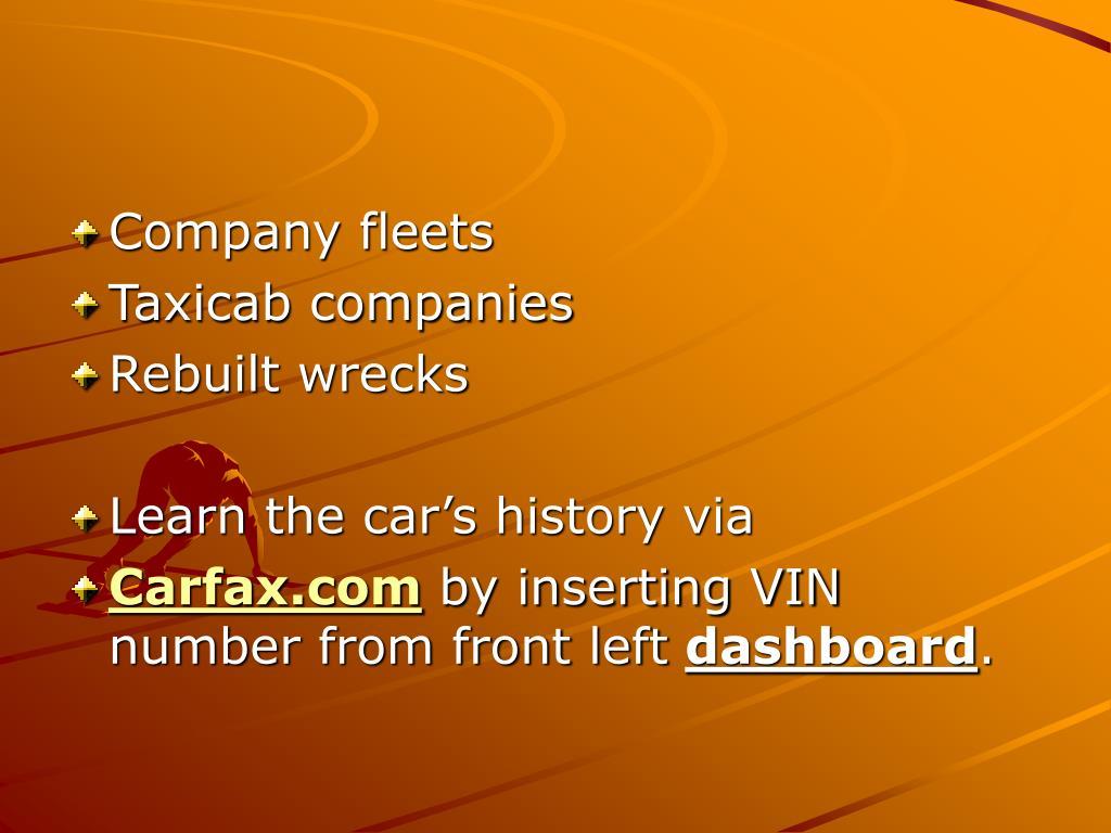 Company fleets