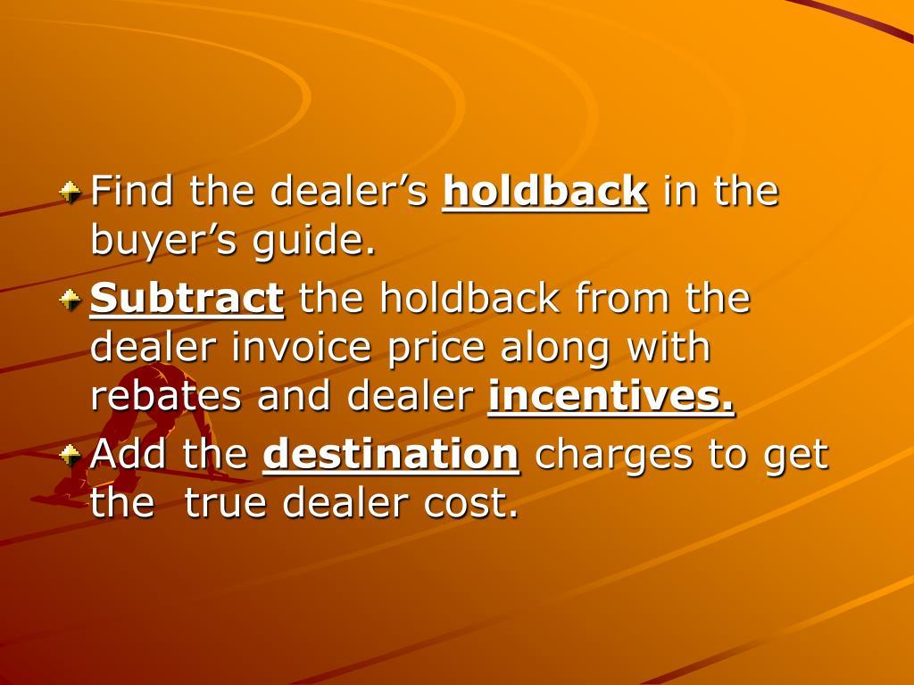 Find the dealer's