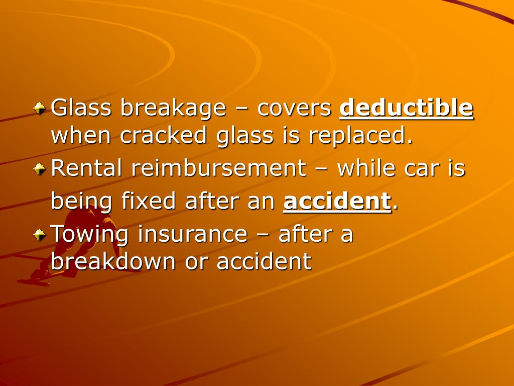 Glass breakage – covers