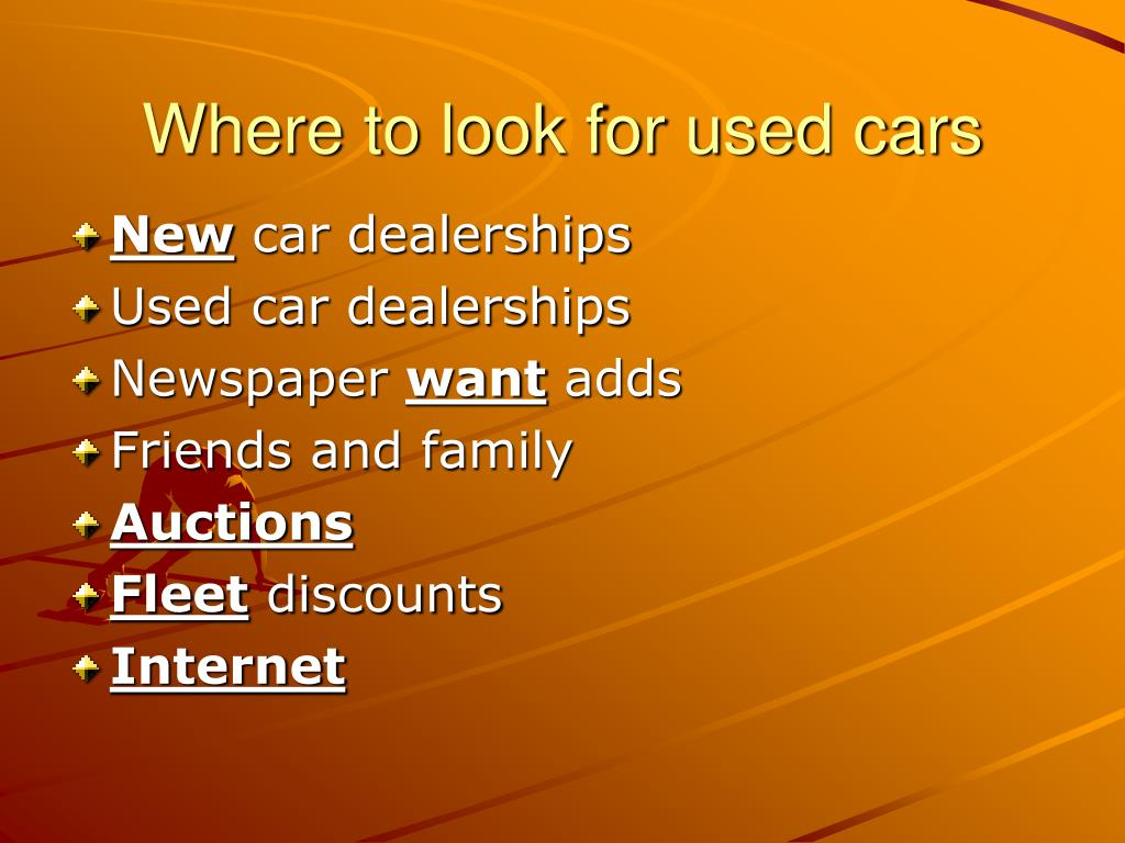 Where to look for used cars