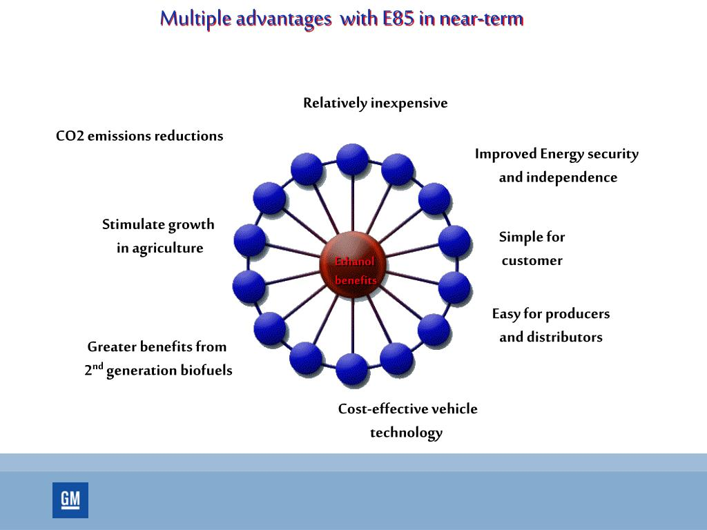 Multiple advantages  with E85 in near-term