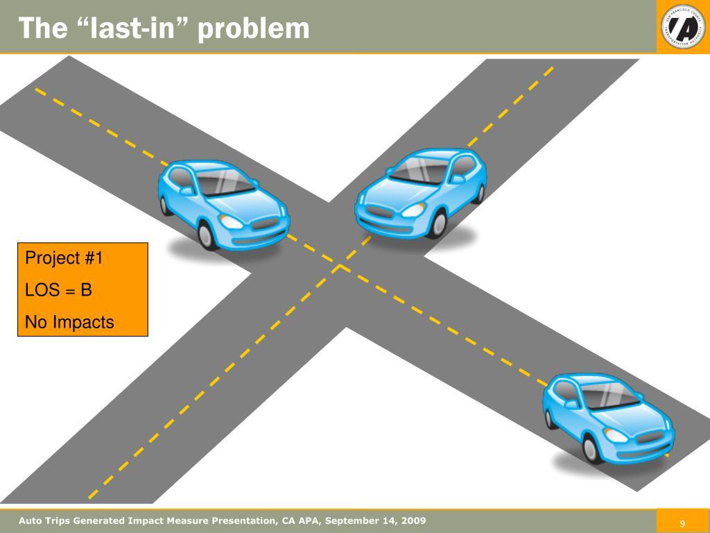 Auto Trips Generated Impact Measure Presentation, CA APA, September 14, 2009