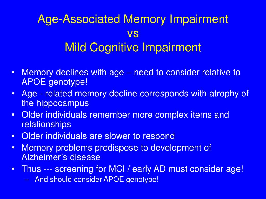 Age-Associated Memory Impairment