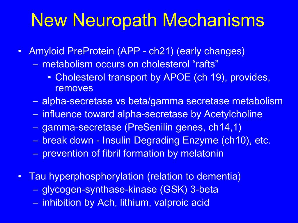 New Neuropath Mechanisms