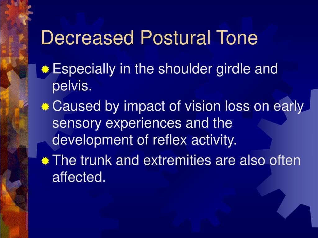 Decreased Postural Tone