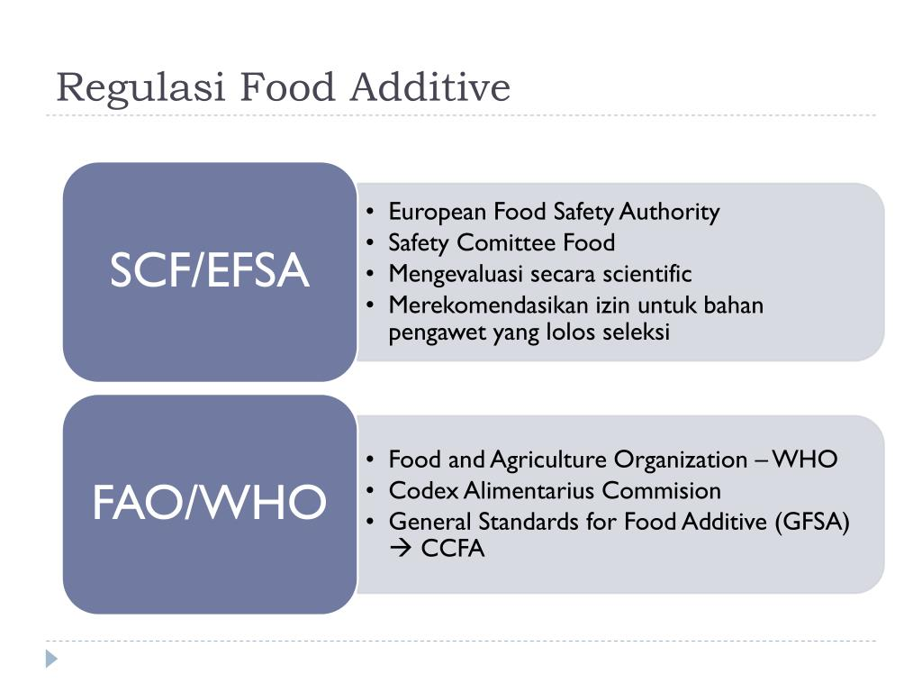 Regulasi Food Additive