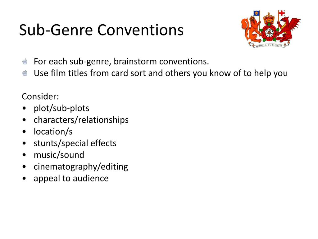 Sub-Genre Conventions