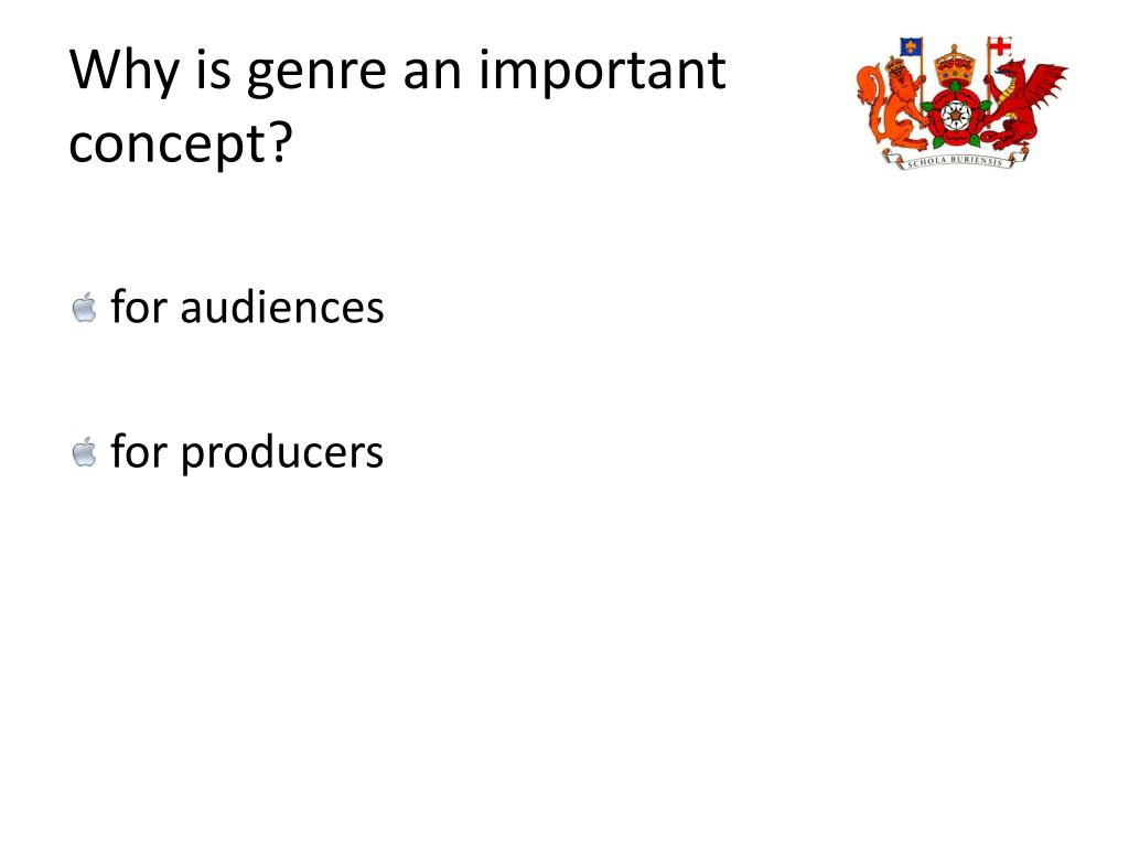 Why is genre an important  concept?