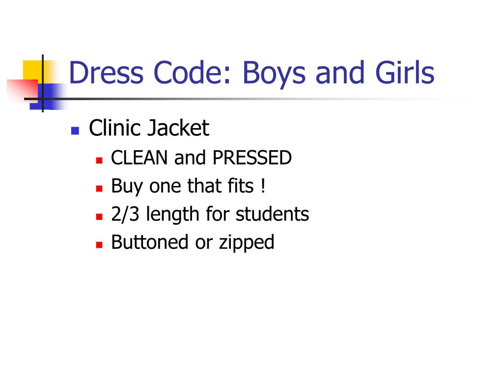 Dress Code: Boys and Girls