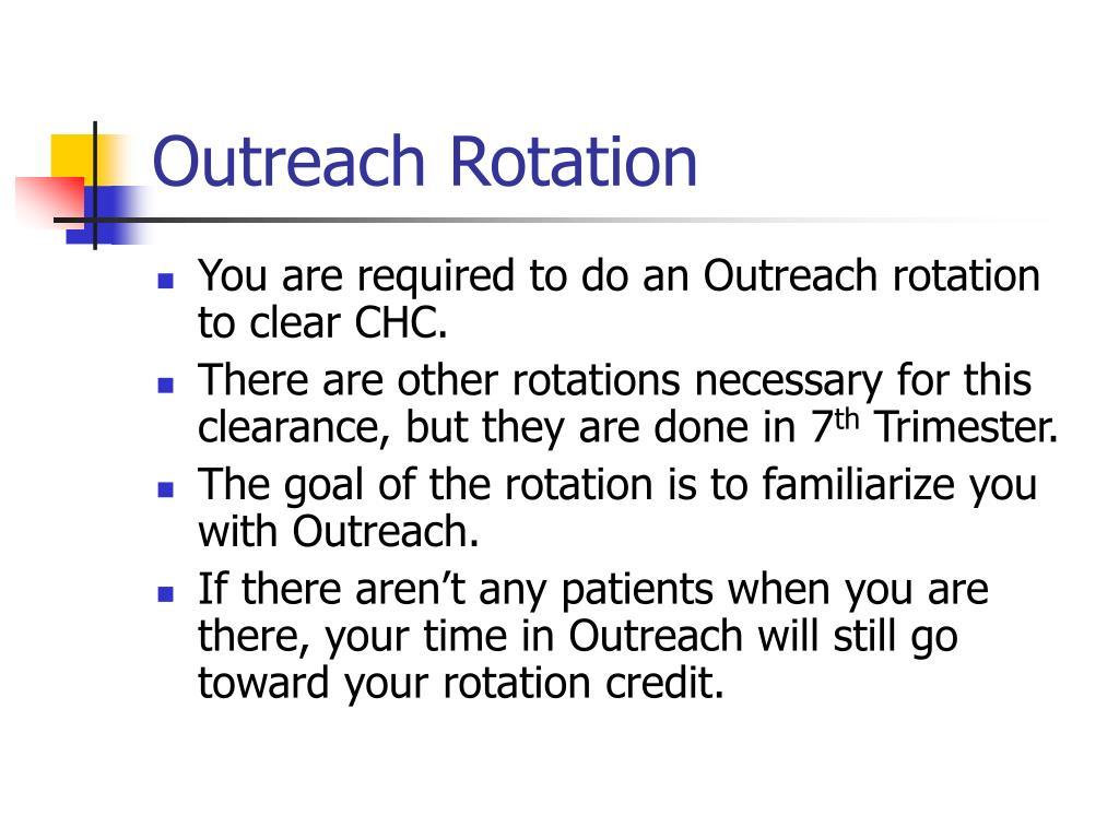 Outreach Rotation