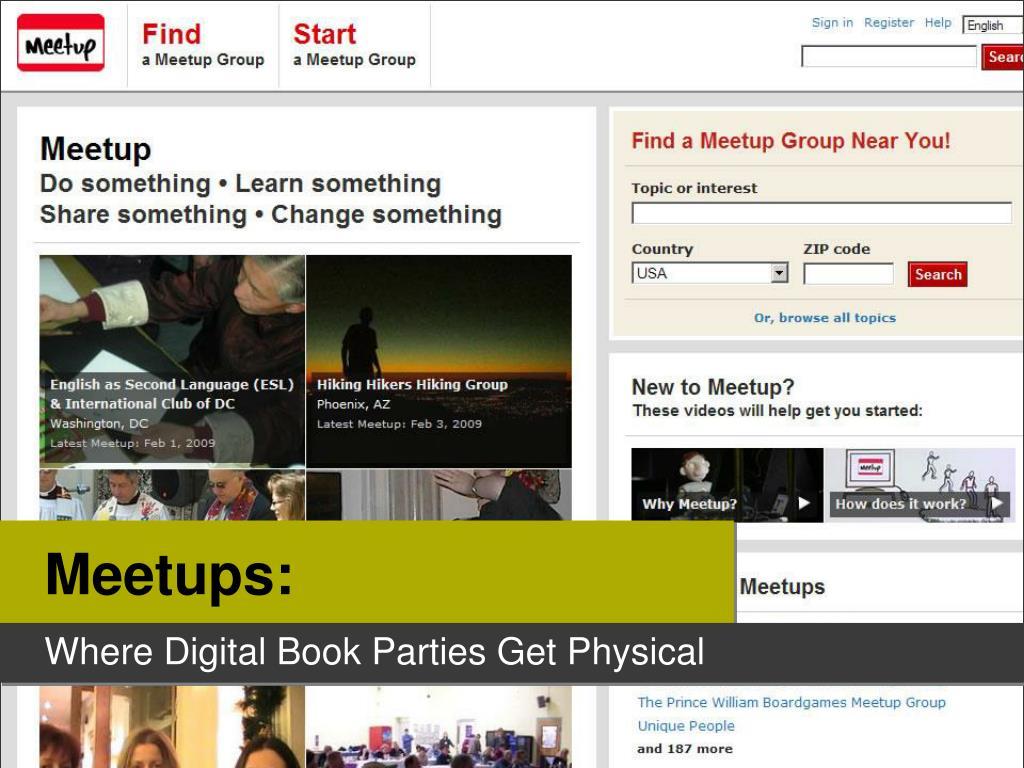 Meetups: