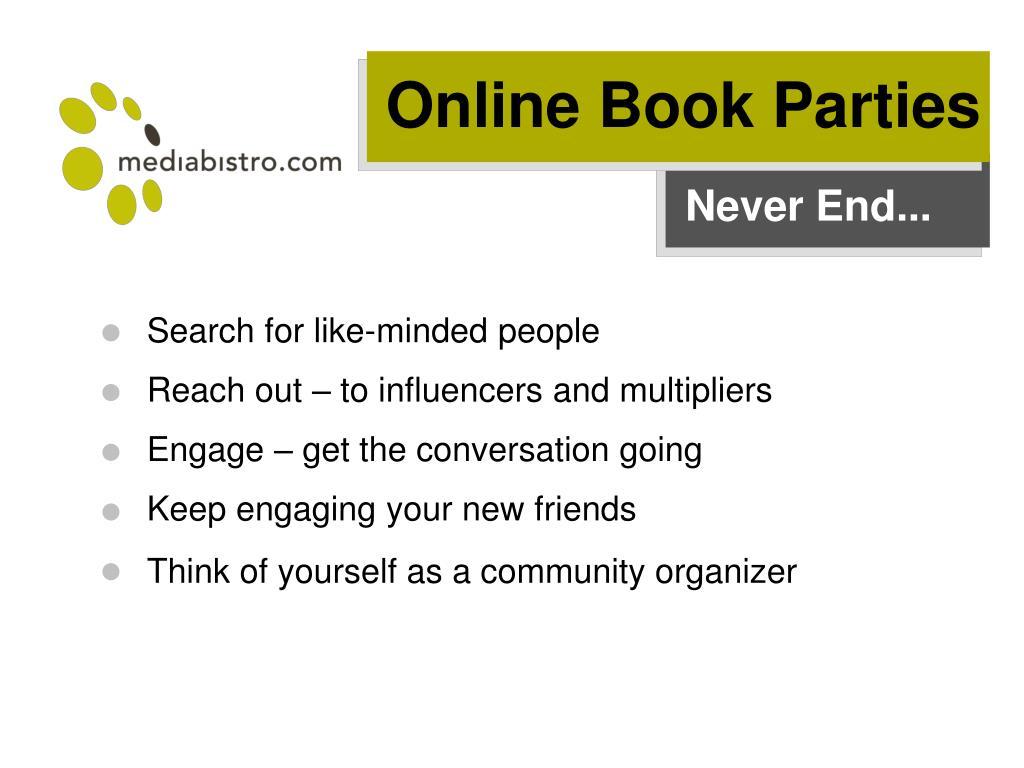 Online Book Parties
