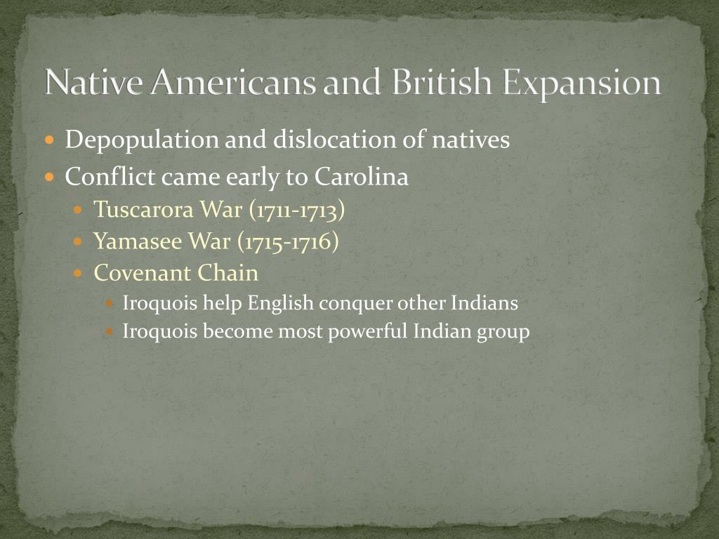 Native Americans and British Expansion