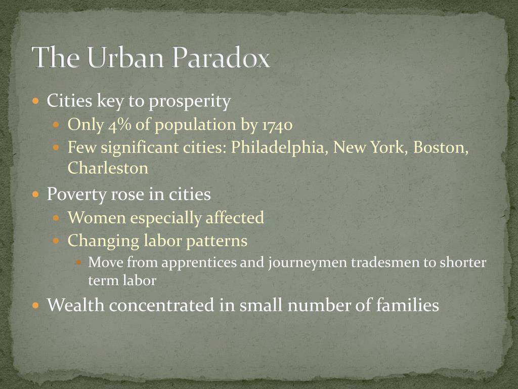 The Urban Paradox