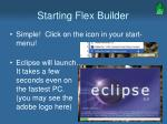 starting flex builder