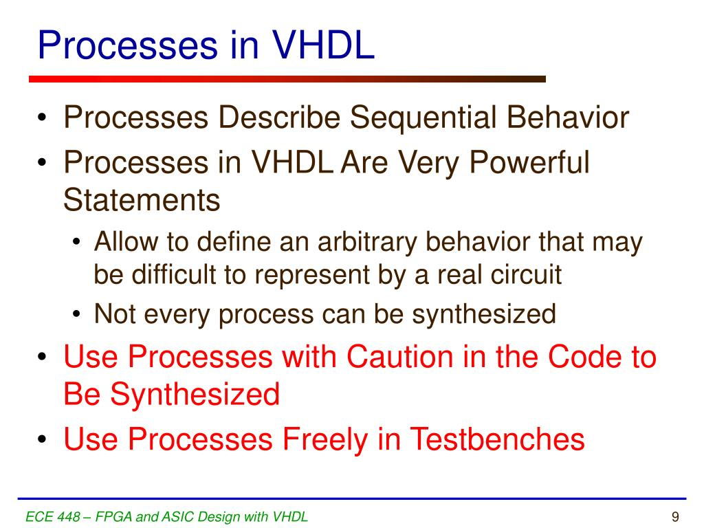 Processes in VHDL