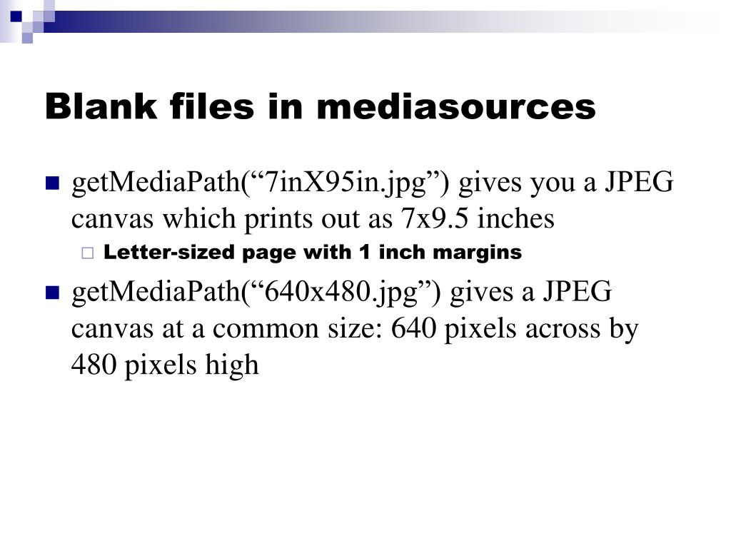 Blank files in mediasources
