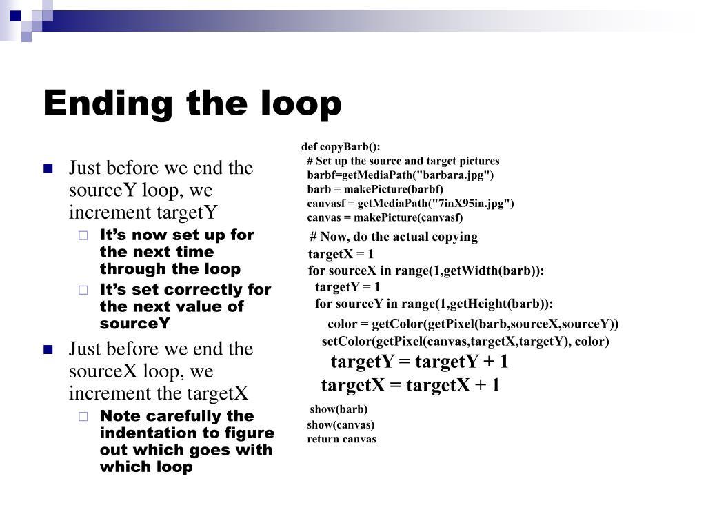 Ending the loop