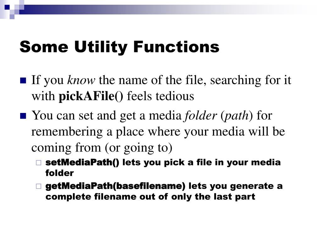 Some Utility Functions