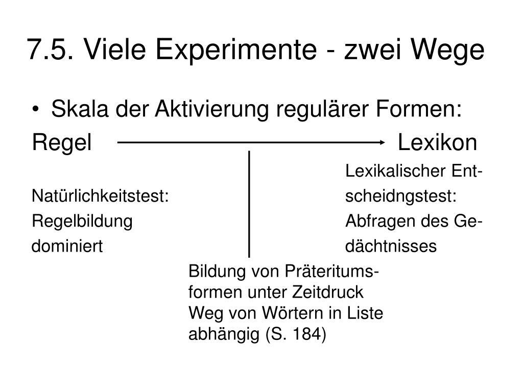 7.5. Viele Experimente - zwei Wege