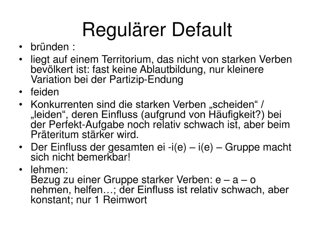 Regulärer Default