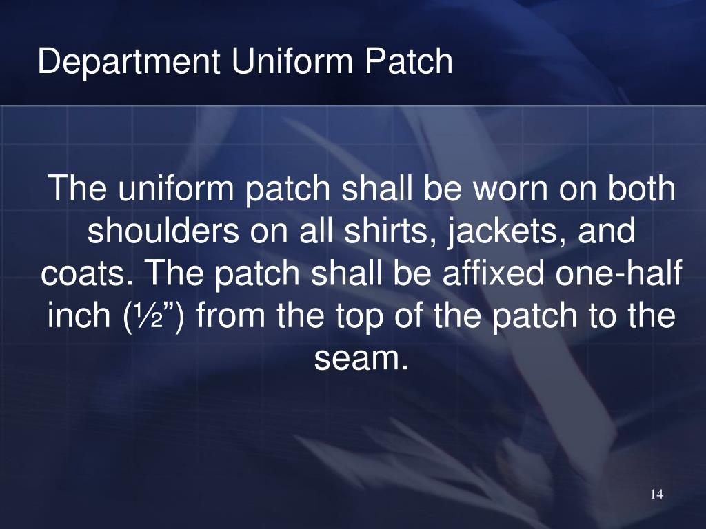 Department Uniform Patch