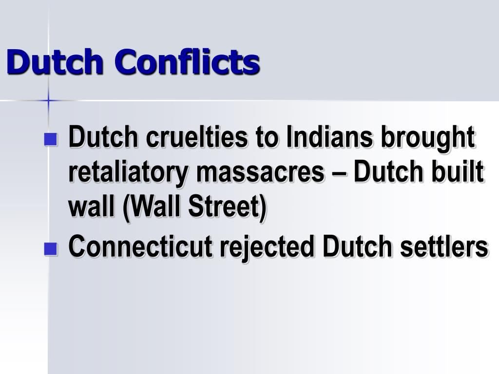 Dutch Conflicts