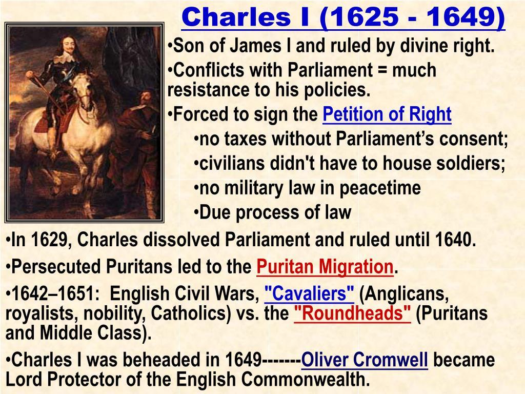 Charles I (1625 - 1649)