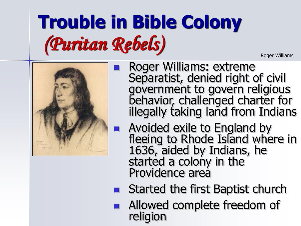 Trouble in Bible Colony