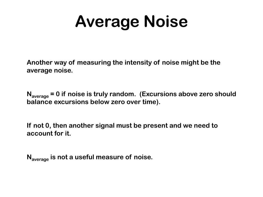 Average Noise