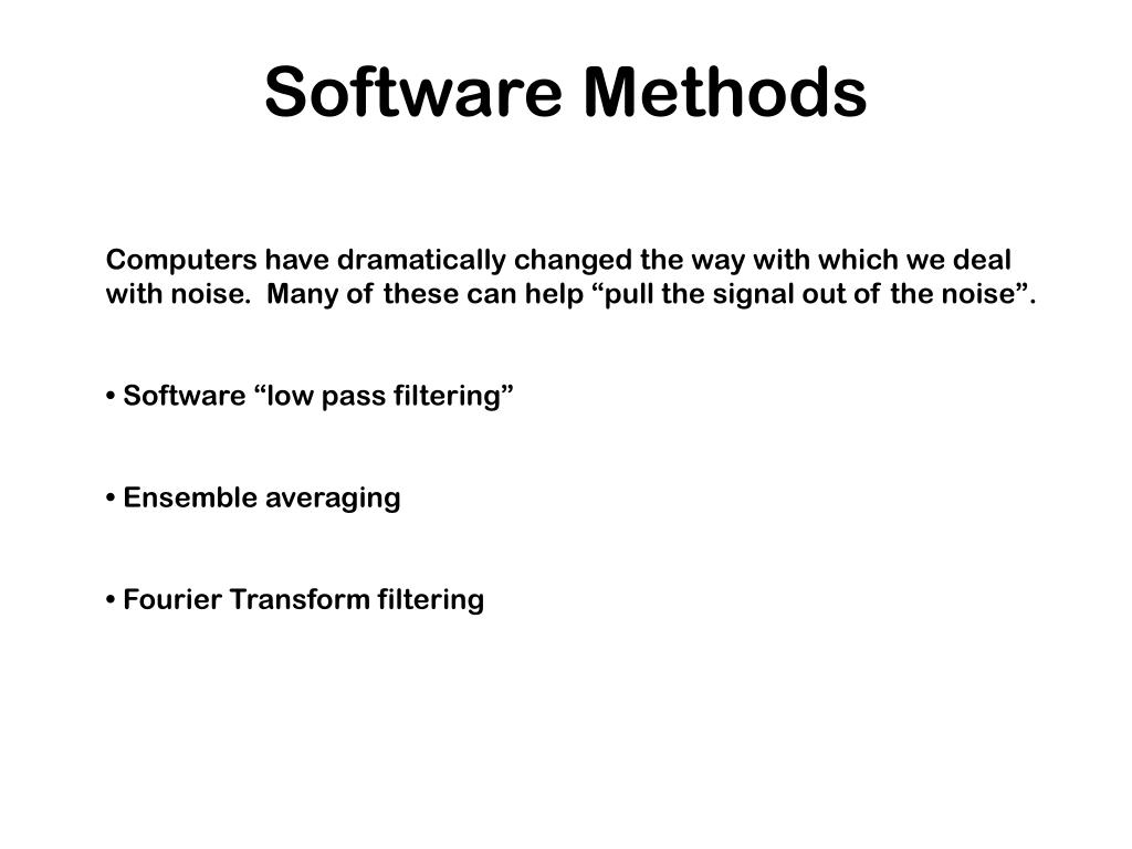 Software Methods