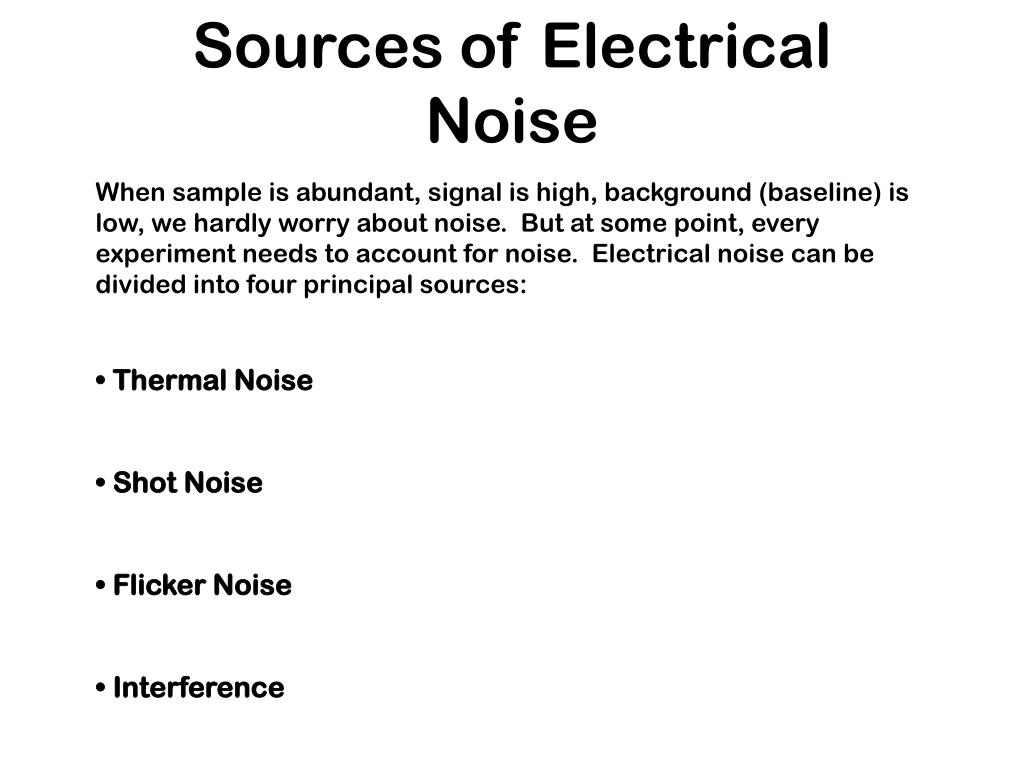 Sources of Electrical Noise