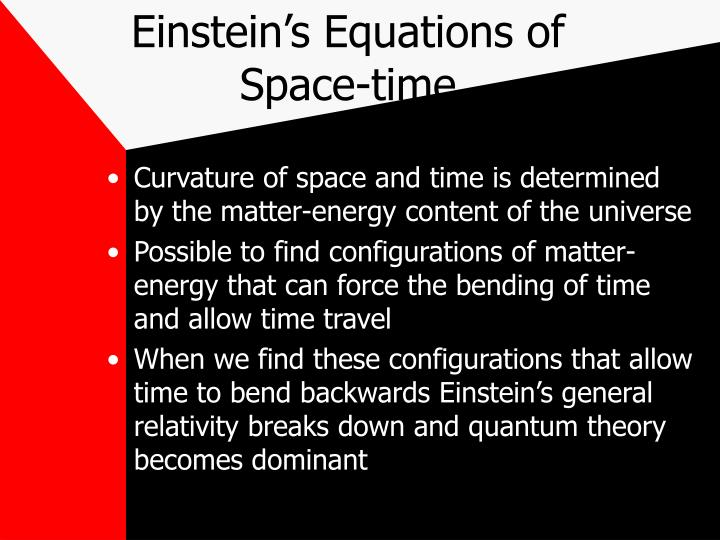 Einstein s equations of space time