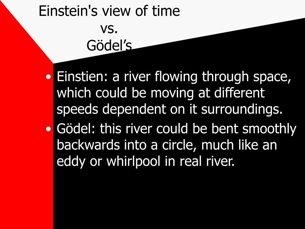 Einstein's view of time