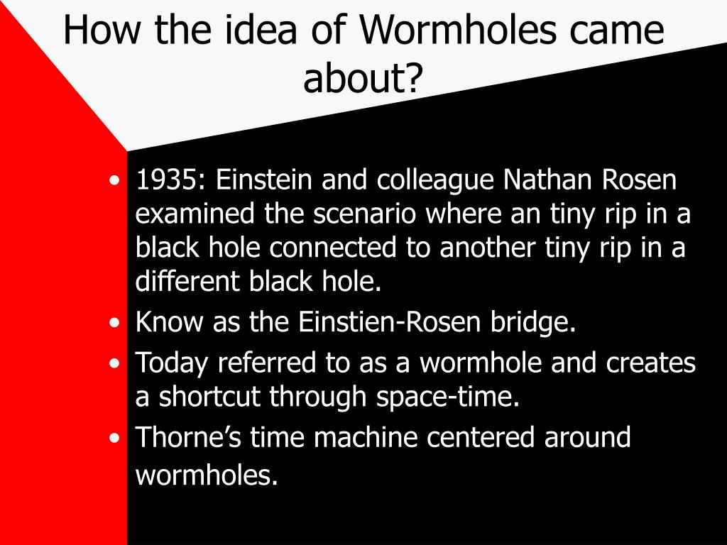 How the idea of Wormholes came about?