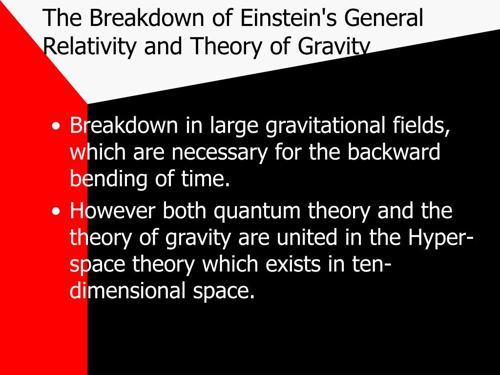 The Breakdown of Einstein's General Relativity and Theory of Gravity
