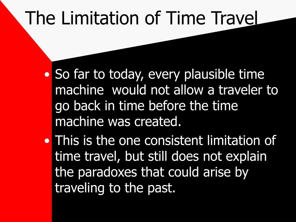 The Limitation of Time Travel
