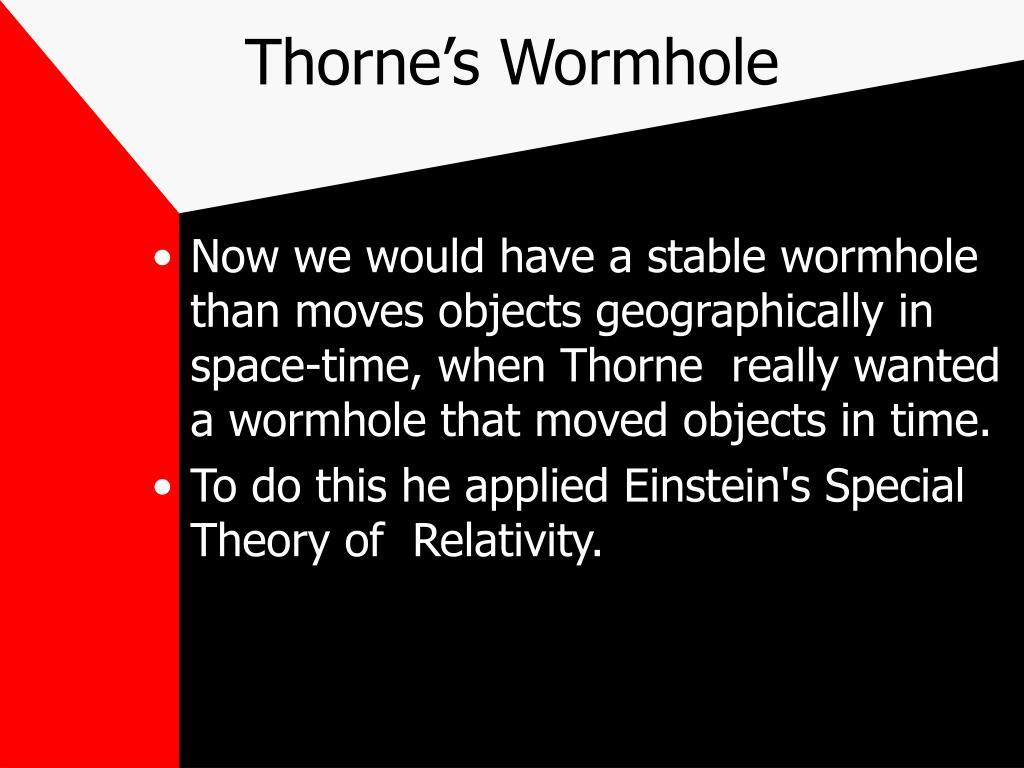 Thorne's Wormhole
