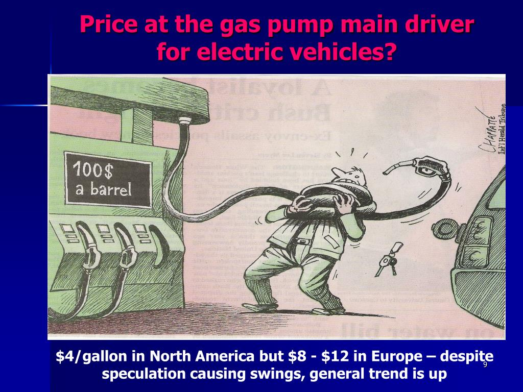 Price at the gas pump main driver for electric vehicles?