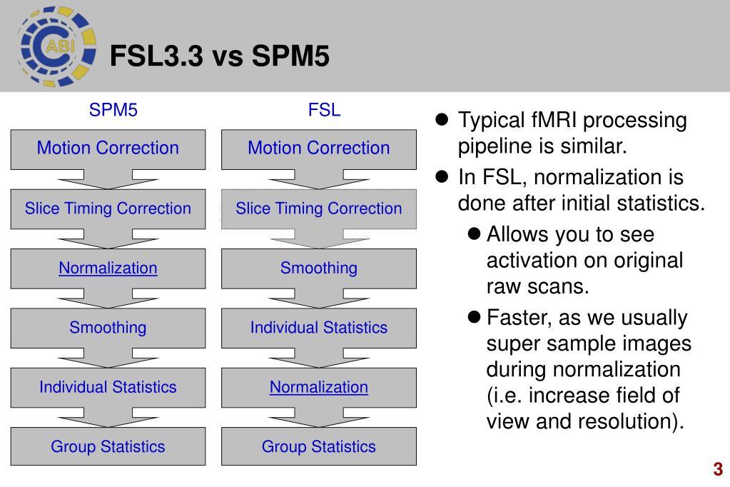 FSL3.3 vs SPM5