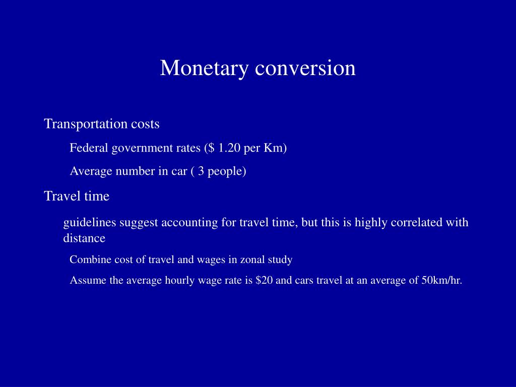 Monetary conversion