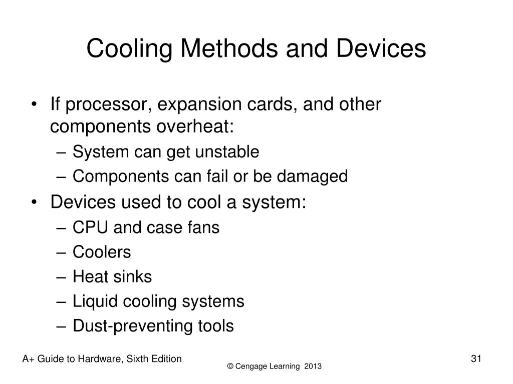 Cooling Methods and Devices
