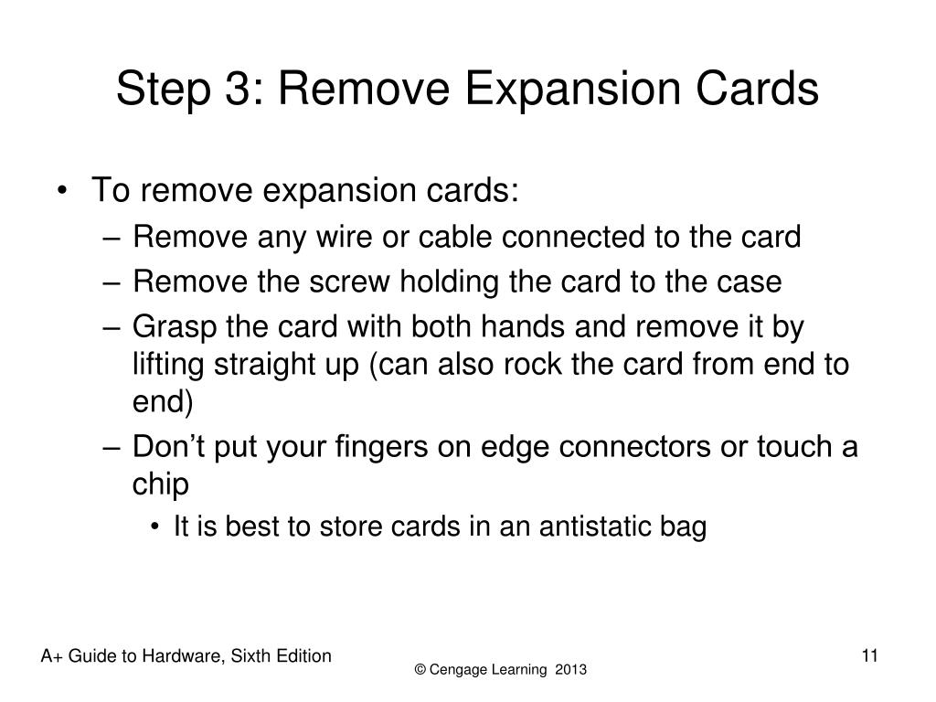 Step 3: Remove Expansion Cards