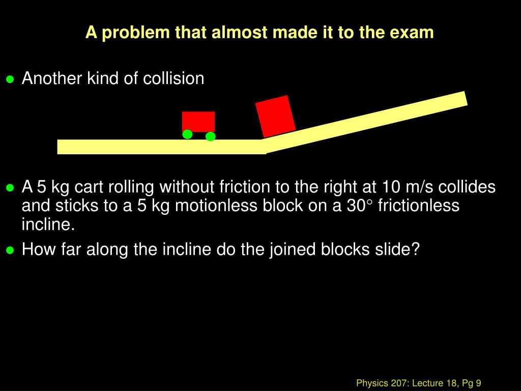 A problem that almost made it to the exam