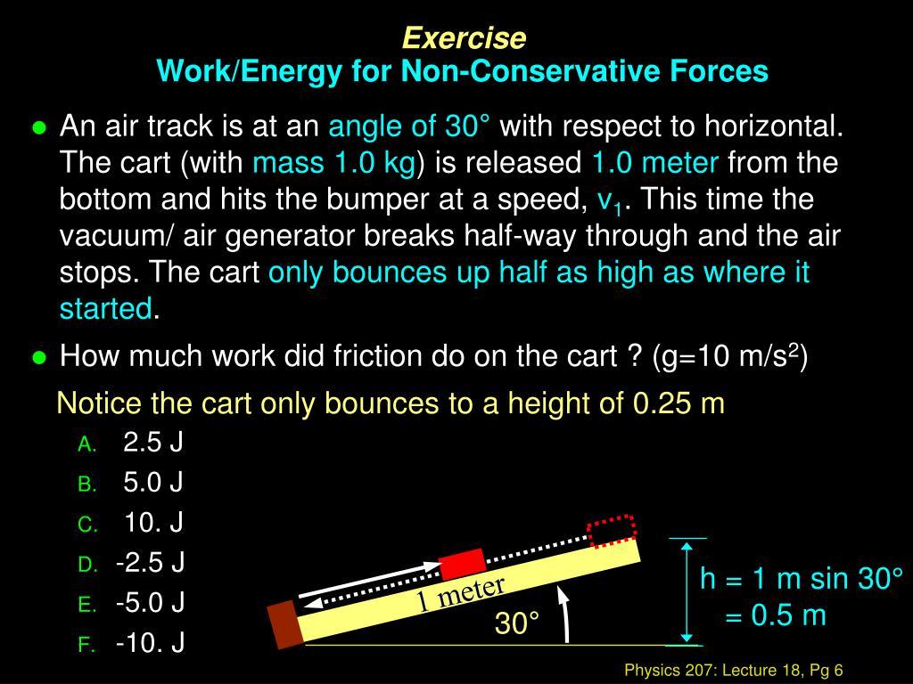 h = 1 m sin 30°