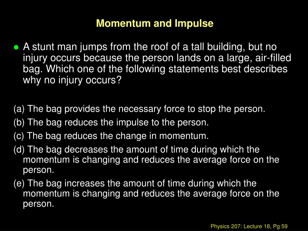 Momentum and Impulse