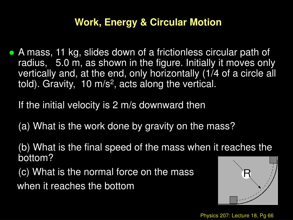 Work, Energy & Circular Motion