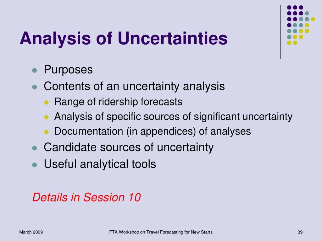 Analysis of Uncertainties